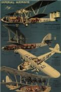 Vintage Imperial airways poster - 1937